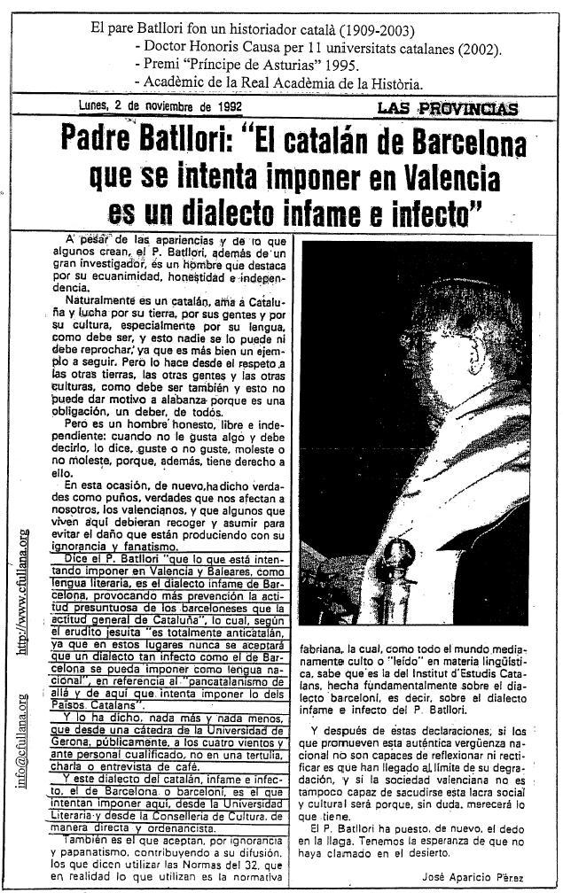 Lengua catalana, catalan infame e infecto dialecto barceloni